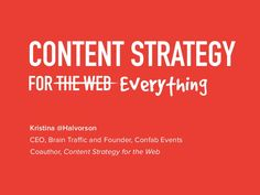 Content Strategy for Everything