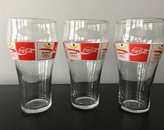 Vintage Coca Cola Barcelona 1992 Glass Set Rare