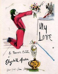Elizabeth Arden My Love perfume vintage ad