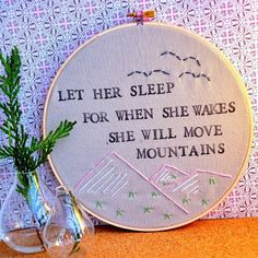 I would love to have this quote in one of the girls' rooms. I think I would like it in a pretty frame.