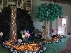 Fake Waterfall Decoration for prom | Pictures of Prom decorations...