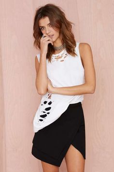 Nasty Gal Point Blank Asymmetric Skirt - What's New