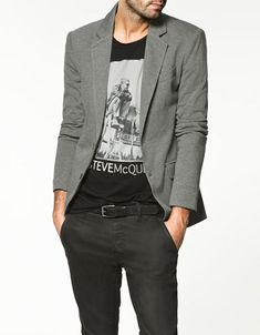 blazer with a graphic t. polished nerd style.
