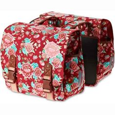 Basil Bloom Bicycle Double Bag 35 L  35 x 15 x 31 Cm Red * Learn more by visiting the image link. (This is an affiliate link) #BikeRacksBags