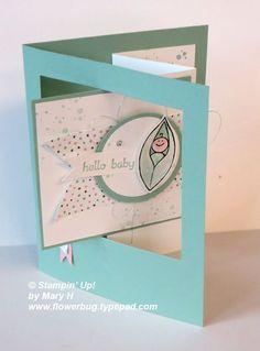 Friends & Flowers Baby card & a Pop-Out Window Fun Fold