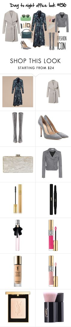 """""""Day to night office look #156"""" by modaelista ❤ liked on Polyvore featuring Burberry, Ralph Lauren, Zimmermann, Gianvito Rossi, Edie Parker, IRO and Yves Saint Laurent"""