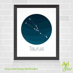 Constellation du taureau. Décor imprimable pour par AyiStudio