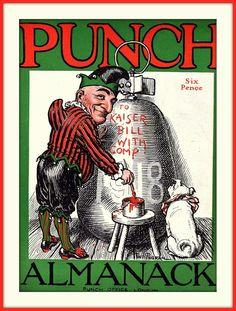 https://flic.kr/p/fuTa7F   1918 COVER  Punch's Almanack for 1918  Cover Design by Fred Pegram