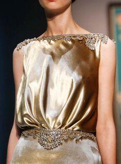 Detail at Schiaparelli Fall 2015 Haute Couture, Paris Fashion Week.