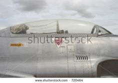 The canopy of a fighter jet. - stock photo