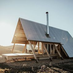 Eco A-Frame: A Glamping Cabin with Eco-Consciousness Design and Gentle Connection with Nature – Futurist Architecture A Frame Cabin, A Frame House, Tiny House Cabin, Tiny House Living, Eco Cabin, Glamping, Haus Am See, Barn Parties, Boutique Homes