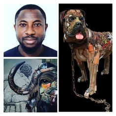 Meet Dotun Popoola, a Scrap Metal Junk Artist with Wow! factors!