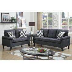 Zipcode Design Carli 2 Piece Living Room Set