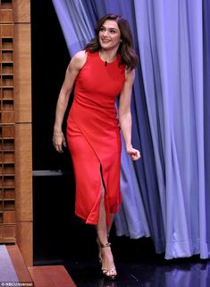 Rachel Weisz appeared on The Tonight Show starring Jimmy Fallon in New York City on November 19, 2015