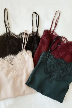 Dress Or Long Cami Style Vest Top Various Sizes Satin Lace Back Cami Style