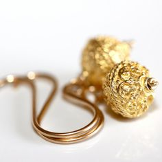 22kt Gold-Plated Bali Earrings by Solshei - 'Breached Contract '.  xo