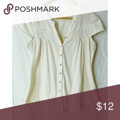 Ruffhewn peasant top medium Excellent used condition Ruffhewn Tops Button Down Shirts