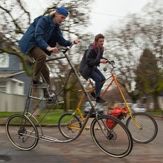 Urban Workshop, Bike Suit, Old Bikes, Cool Bicycles, Bike Design, Sidecar, Tandem, Bike Life, Bikers