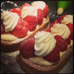 Aardbeienslof gemaakt door 'heel holland bakt' winnaar Rutger. Yum!
