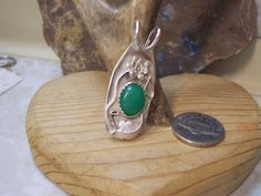 Original artwork , signed - This beautiful piece of Chinese Jade set in a hand made solid sterling setting is a pendant your grandchildren will love throughout the ages