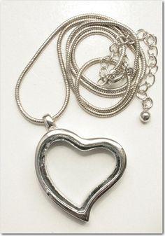$28.98 Floating Heart Locket Necklace!
