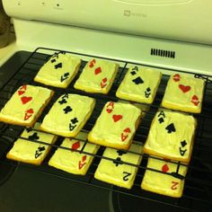 Cards cookies. Awesome for a poker night.