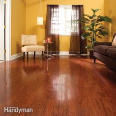 Renew the finish on your wood floor without the hassle of sanding. Instead, use a simple chemical etching technique and apply a new topcoat of finish. It also works on plastic laminate floors.