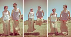 Free To Be Old-School: Carrie & Sean's Pre-Wedding Field Day Extravaganza : Free to be Photography