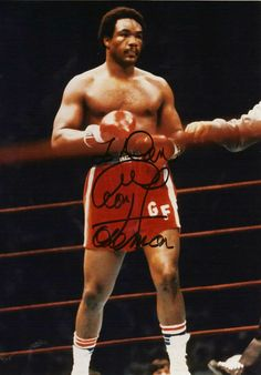 "George Edward Foreman (born January 10, 1949) won the World Heavyweight title with a second round knockout of then-undefeated Joe Frazier in Kingston, Jamaica in 1973. He made two successful title defenses before losing to Muhammad Ali in ""The Rumble in the Jungle"" in 1974. Following a loss to Jimmy Young in 1977 he became an ordained Christian minister. Ten years later Foreman announced a comeback, and in 1994 at age 45, he regained the Heavyweight Championship."