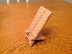 Zebra wood phone stand. Perfect for night stand, dresser, or desk.