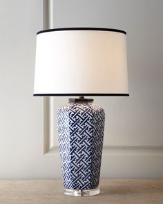 """""""Geometric"""" Navy Lamp at #Horchow. #homedecor #popculture"""