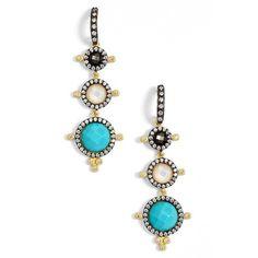 Freida Rothman 'Metropolitan' Linear Earrings (15.455 RUB) ❤ liked on Polyvore featuring jewelry, earrings, colorful stud earrings, 14k earrings, multi color earrings, multicolor earrings and earrings jewelry