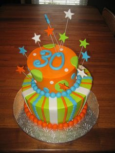 30th Birthday Cake   Flickr - Photo Sharing! Cake Cookies, Cupcake Cakes, Fun Cakes, 30 Birthday Cake, Birthday Ideas, Birthday Parties, Party Pops, Book Cakes, Cheesecake Cupcakes