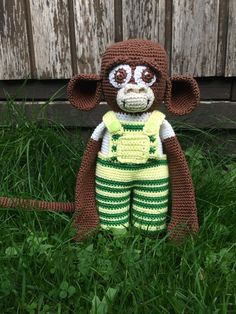 Gehäkelter Affe Coco von RorysHandmadeStuff auf Etsy