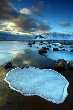 Vesturhorn, Iceland. 지구밖에떨어진기분