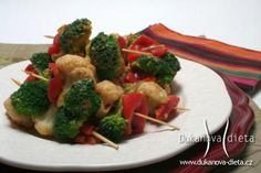 Šašlik s brokolici a květakem Dukanova dieta
