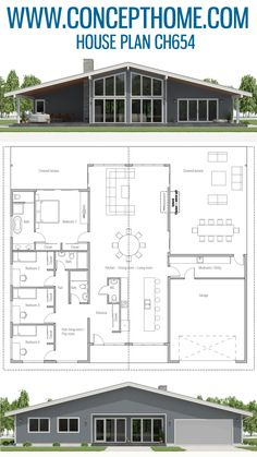 Home plan. Best House Plans, Dream House Plans, Small House Plans, House Floor Plans, Architectural Design House Plans, Architecture Design, Dream Home Design, House Design, The Plan
