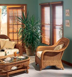 """Northern Heights 2 1/2"""" Shutter Style wood blind shown in Maple Window Blinds & Shades, Wooden Window Blinds, Wood Blinds, Blinds For Windows, Roman Shades Kitchen, Blinds Online, Shaped Windows, Door Window Treatments, Interior Shutters"""