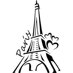 silueta de torre eiffel - Buscar con Google