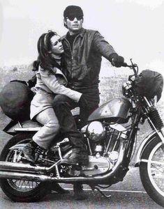 """Bonnie Bedelia and Michael Parks   """"Then Came Bronson""""   1969 Hd Sportster, Harley Davidson Sportster, Joon Gi, Lee Joon, Biker Movies, Motorcycle Art, Motorcycle Garage, Vintage Bikes, Vintage Tv"""