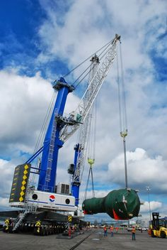 Liebherr - A Mobile Harbour Crane in a port of Washington State, US