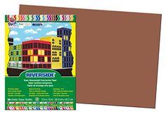 Construction Paper - Pacon Riverside Construction Paper 12Inches by 18Inches 50Count Brown 103629 -- Click image to review more details.