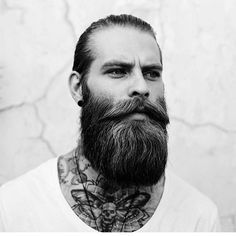 That's what you call a beard! #tattoo #tattoos #ink #beard #moustache #gent #style #urban