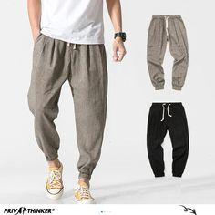 Elonglin Mens Cargo Pants Cotton Work Pants Elastic Waist Army Combat Loose Fit