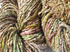 Noro Kogarashi Yarn Wool, Silk 2 skeins Color 20 Lime, Pink, Natural #Noro #HandDyed