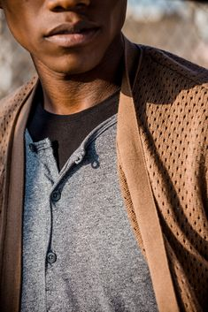 Along The Venice Boardwalk — The Design Kollective Brown Cardigan, Grey Sweater, Aaron Smith, Daniel Patrick, Short Sleeve Hoodie, James Perse, Blue Hoodie, Venice Beach, Quilted Jacket