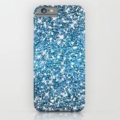 Night Blue Glitters Sparkles Texture iPhone Case by Cool Iphone Cases, Blue Glitter, Glitters, Sparkles, Texture, Night, Surface Finish, Pattern