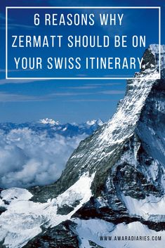 A visit to Zermatt is an absolute must on your Swiss Trip! We've got 6 reasons why Zermatt should be on your Swiss Travel itinerary. Travel Tips For Europe, Backpacking Europe, Travel Destinations, Switzerland Itinerary, Switzerland Vacation, European Road Trip, European Travel, Austria Travel, France Travel