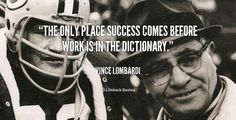Success Comes from the Dictionary