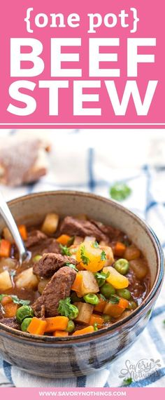A one pot beef stew you can make on the stove top! Quick to pull together with fresh and real ingredients, so you can feed your family an easy and healthy dinner in no time at all! We love making this in our large Dutch oven and use the leftovers for free
